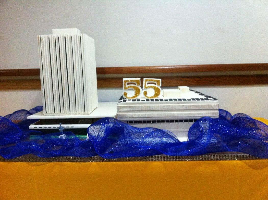 Bank of Jamaica 55th Anniversary Cake