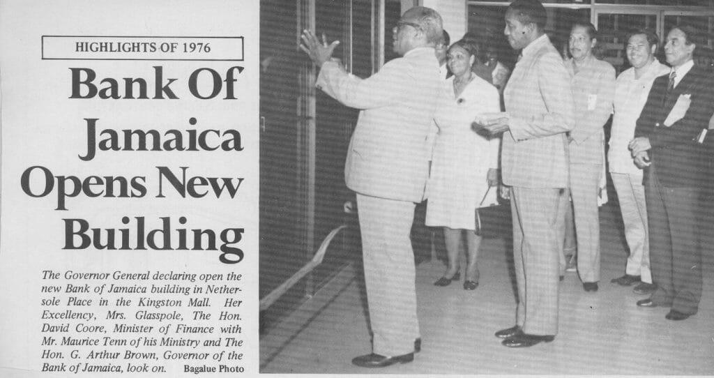 BOJ Opens New Building 1976