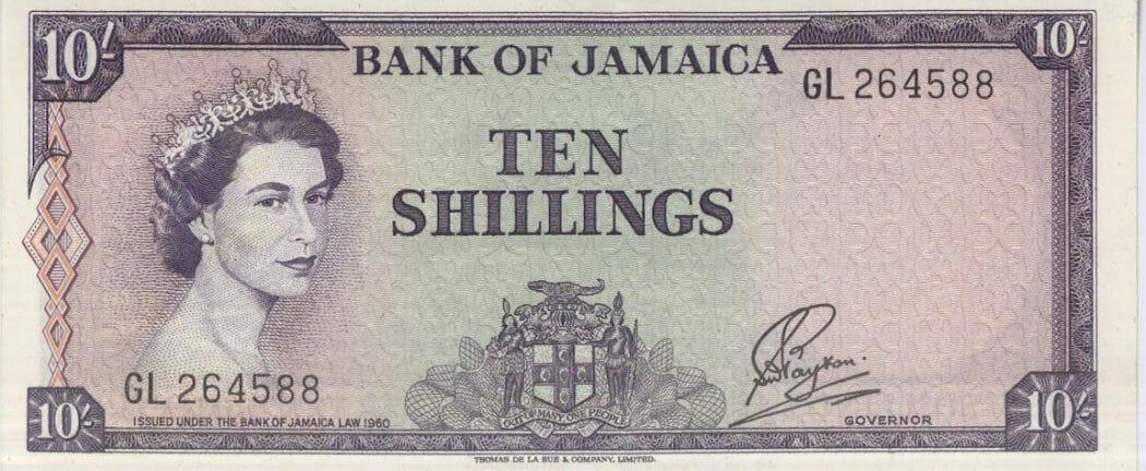 BOJ Ten Shillings