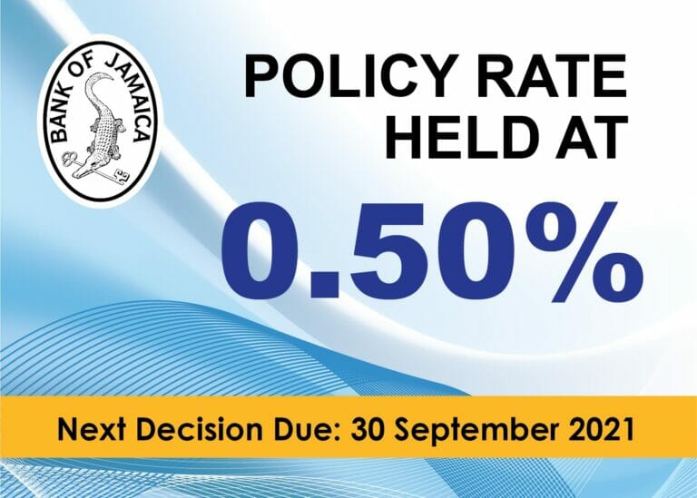 Policy Rate Held - 19 August 2021